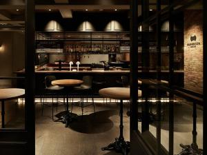 The lounge or bar area at the square hotel GINZA