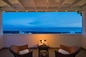 A balcony or terrace at Hotel Ossidiana Stromboli