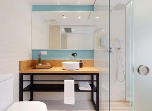 Salle de bains dans l'établissement Heredad de Unanue