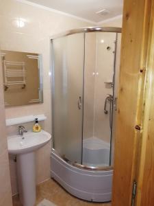 A bathroom at Микулин Хутірець