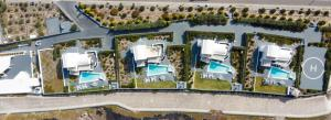 Vue panoramique sur l'établissement Santorini Princess Presidential Suites