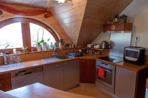 A kitchen or kitchenette at Penzion u Pejtrika