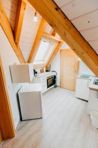 Küche/Küchenzeile in der Unterkunft Strandpension Mäder