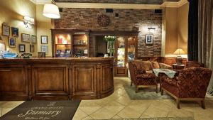 The lobby or reception area at Grand Hotel Stamary