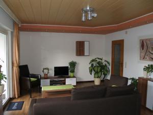 Ein Sitzbereich in der Unterkunft De Roosvakantiewoningen