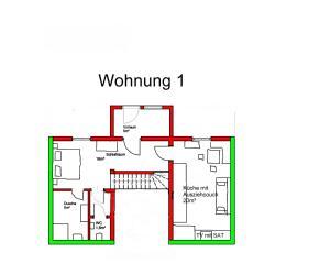 The floor plan of Gindlhütte
