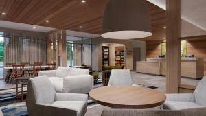 The lounge or bar area at Fairfield Inn & Suites by Marriott Oklahoma City El Reno