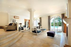 A seating area at Quinta do Lago Villa Sleeps 10 Pool Air Con T480063