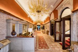The lobby or reception area at Hotel Nani Mocenigo Palace