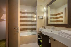 Koupelna v ubytování Hotel Nazionale