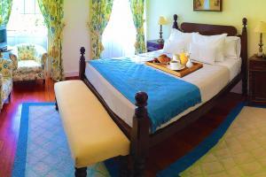 Uma cama ou camas num quarto em Estalagem do Vale
