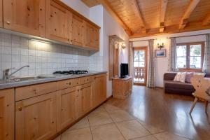 Küche/Küchenzeile in der Unterkunft Schmiedhof