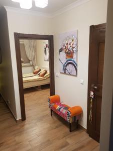 A bed or beds in a room at Przytulny Zakątek