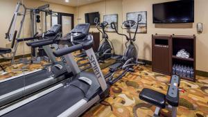 The fitness centre and/or fitness facilities at Best Western PLUS Arena Hotel
