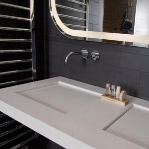 Een badkamer bij Wellness Caracol