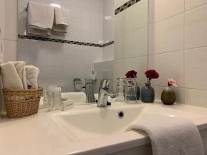 Salle de bains dans l'établissement Hotel In den Brouwery
