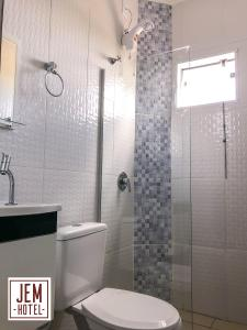 A bathroom at Hotel Jem
