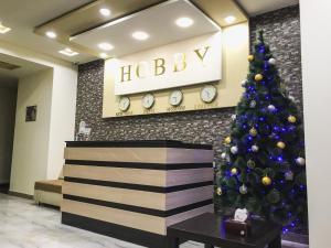 Лобби или стойка регистрации в Hobby Hotel