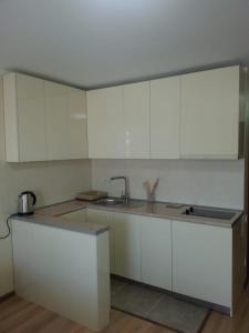 Кухня или мини-кухня в Apartment in ORBI PALACE