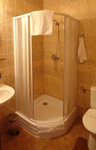 Kúpeľňa v ubytovaní Hotel Pod Hradom