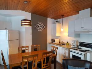 A kitchen or kitchenette at Motel Le Riviera