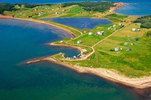 A bird's-eye view of Hood's Island Hideout