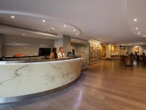 The lobby or reception area at Hotel Concordia Barcelona