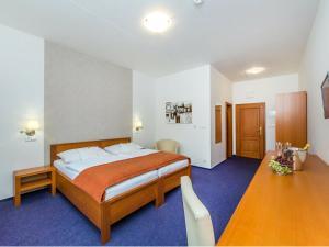 Postel nebo postele na pokoji v ubytování Hotel Horal