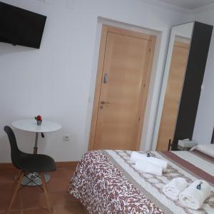 Cama o camas de una habitación en Casa Miguel & Sally