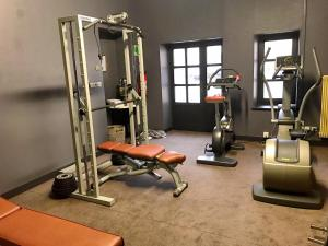 The fitness center and/or fitness facilities at Hôtel Golf Château de Chailly