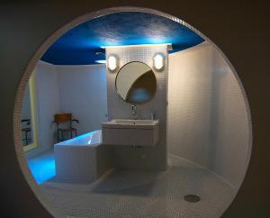 Koupelna v ubytování Art Tower