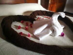 Łóżko lub łóżka w pokoju w obiekcie Villa Cecilio
