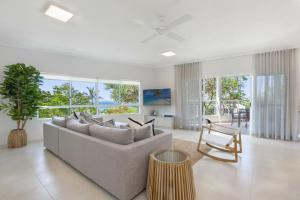 A seating area at The Lookout Resort Noosa