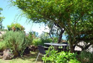 Um jardim em Te Fare Hinahei