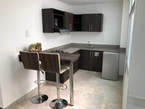 Кухня или мини-кухня в Towers100 Aparta Estudios