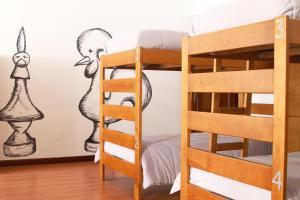 A bunk bed or bunk beds in a room at Hostel 2300 Thomar