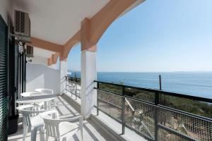 A balcony or terrace at Nissaki Sea View