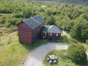 Una vista aérea de Casa Huemules
