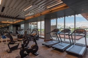 The fitness centre and/or fitness facilities at Neelkanth Sarovar Premiere