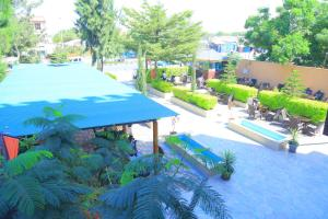 A view of the pool at Kerawi international hotel or nearby