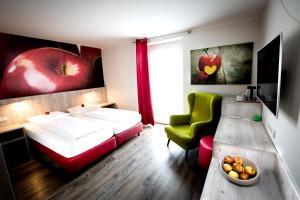 Кровать или кровати в номере Wallner - Genusswirt mit Atmosphäre