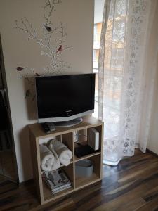 Telewizja i/lub zestaw kina domowego w obiekcie Globetrotters' Apartment