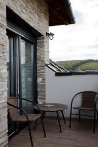 A balcony or terrace at Győri vendégház