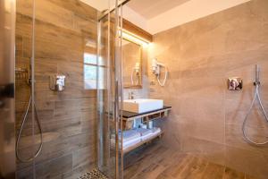 A bathroom at Agriturismo Malga Piè