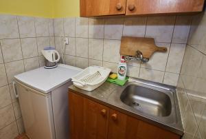 Kuchnia lub aneks kuchenny w obiekcie Martiany gm.Kętrzyn( Ośrodek Wypoczynkowy)