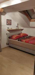 Postel nebo postele na pokoji v ubytování Ferienwohnung Stricker