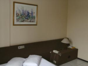 A bed or beds in a room at Hotel Colon Palace