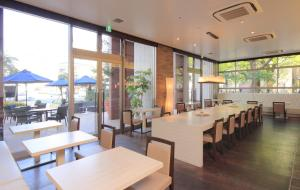 A restaurant or other place to eat at K's Street Hotel Miyazaki
