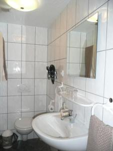 A bathroom at Gelber Löwe B&B Nichtraucherhotel