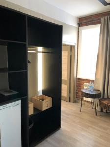 Кухня или мини-кухня в Отель Камский Трофей